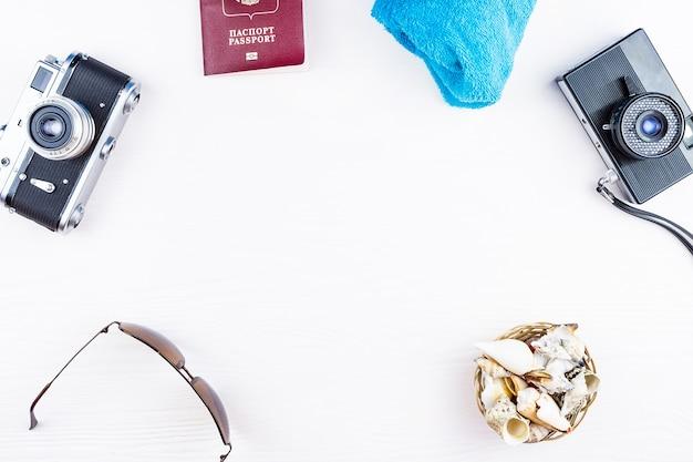 Seashells and camera