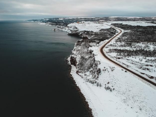 冬の間の海岸