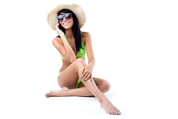 Seaside long hair holiday vacation splash