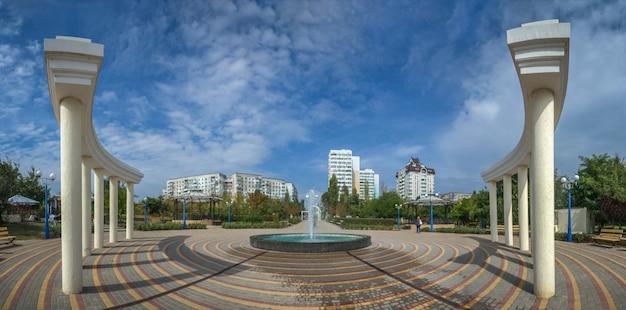 Seaside park in yuzhny city, ukraine