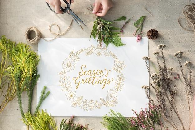 Buoni regalo di auguri di auguri di stagione