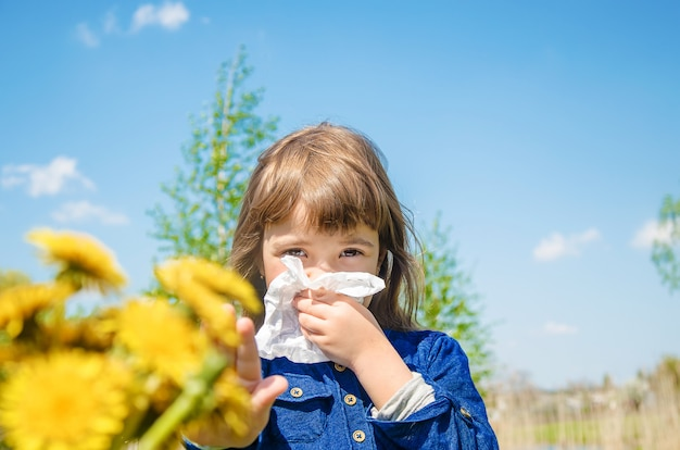 Seasonal allergy in a child