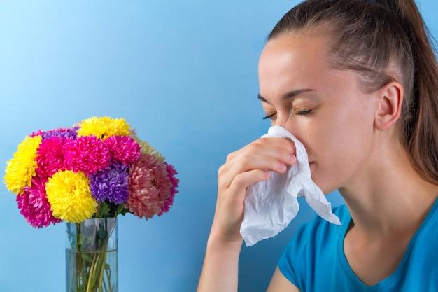 Seasonal allergy to flowering plants and pollen