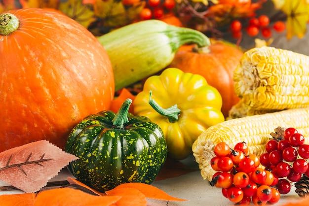 Seasonal harvest of berries and vegetables