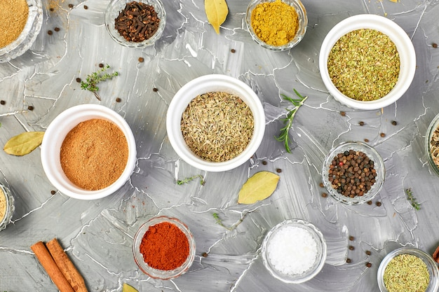 Seasoning. spice and herb seasoning with fresh and dried