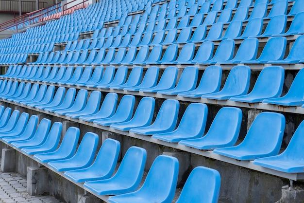 Seats in the stadium