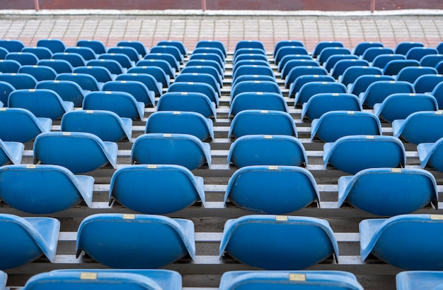 Seats in the stadium a
