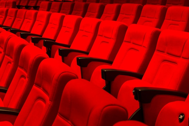 Seats in a theatre
