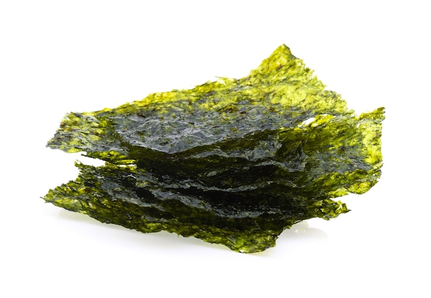 Seaweed chips isolated on white background