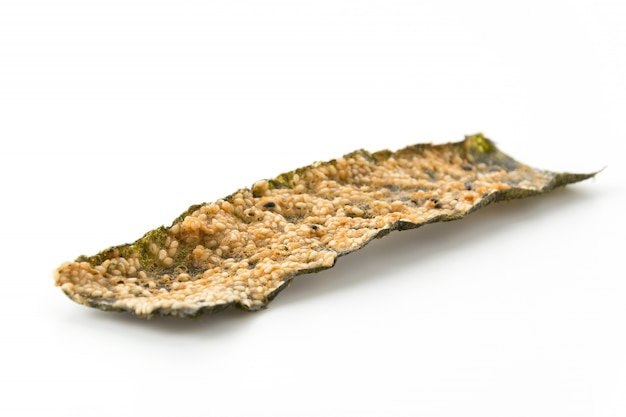 Seaweed fried with white sesame