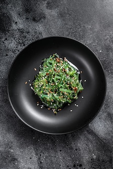 The seaweed salad with sesame seeds