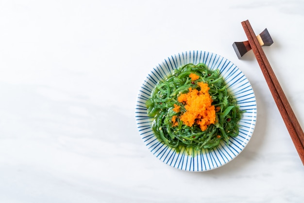 Seaweed salad with shrimp eggs -japanese style