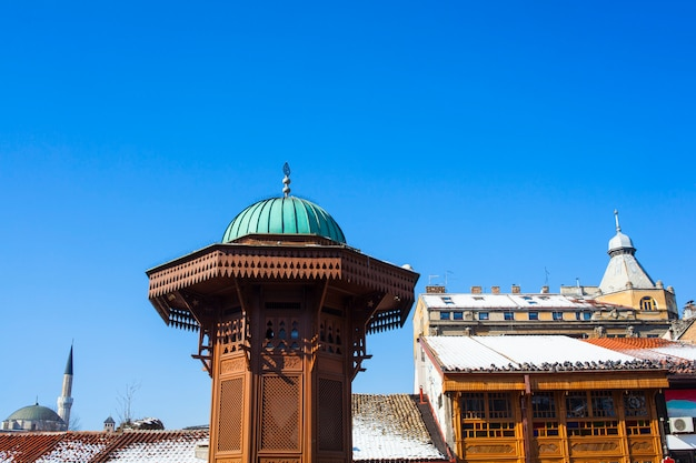 The sebilj wooden fountain, sarajevo