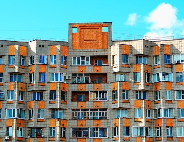 Secondhand realty in moscow region architecture background