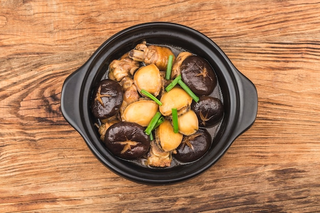 The secret abalone chicken pot, chicken delicious, abalone fresh