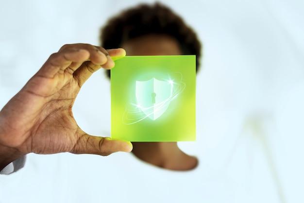 セキュリティと保護のホログラム