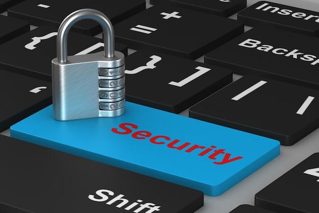 Кнопка безопасности и замок на клавиатуре