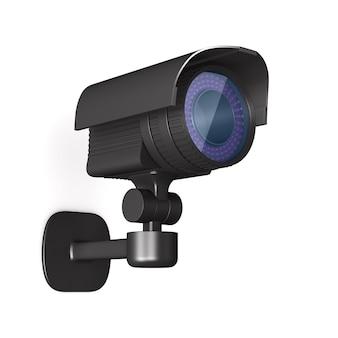 Камера безопасности. изолированный 3d-рендеринг