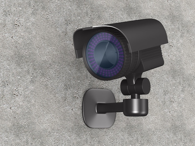 Security camera. isolated 3d rendering