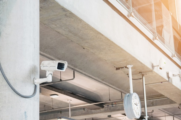 Security cameras in buildings and important places in the city.