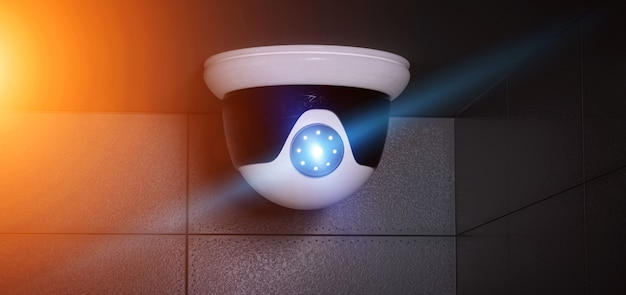 Security cctv camera system - 3d rendering
