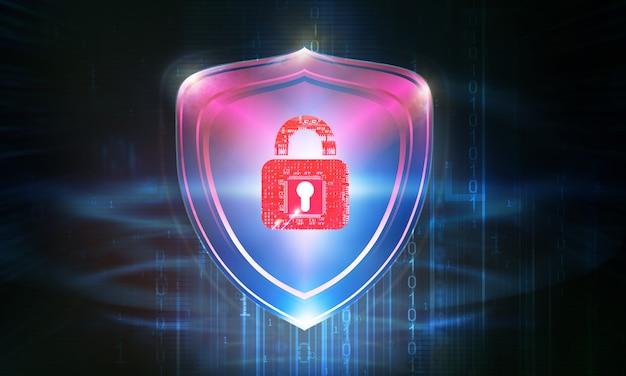 Концепция безопасности в визуализации иллюстраций Premium Фотографии