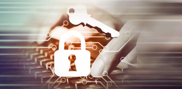 보안 데이터 코드 디지털 개념