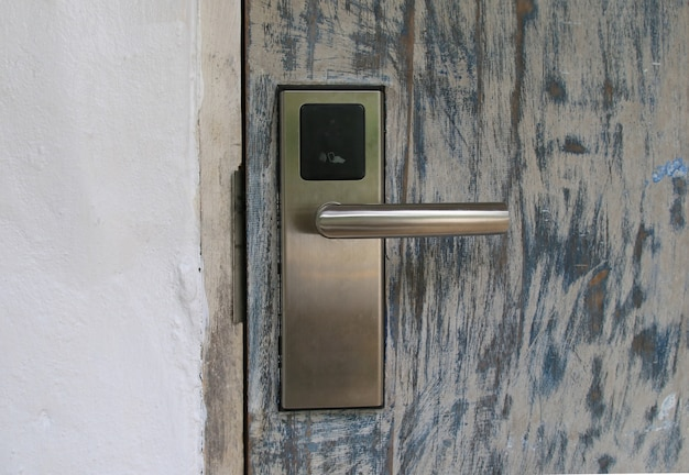Security door with the key card