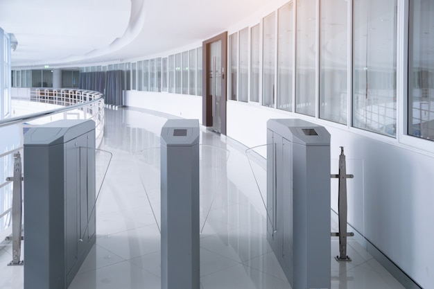 Security entrance gate access system for office