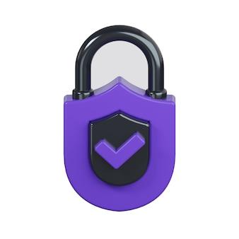 白で隔離のセキュリティロックアイコン Premium写真