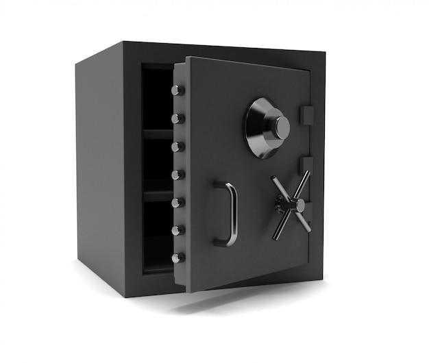 Безопасный сейф. 3d визуализация иллюстрации
