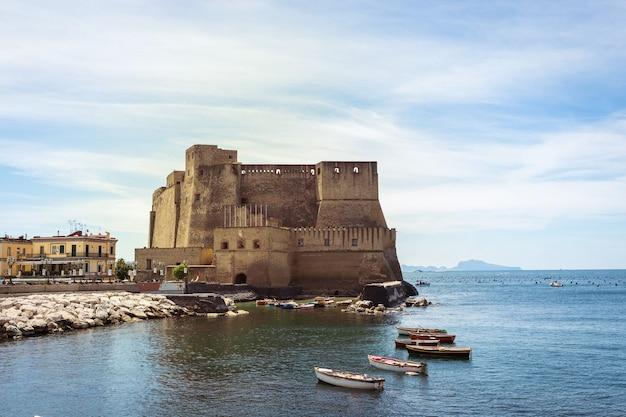 서쪽에서 본 카스텔 델 'ovo, 계란 성, 나폴리, 이탈리아