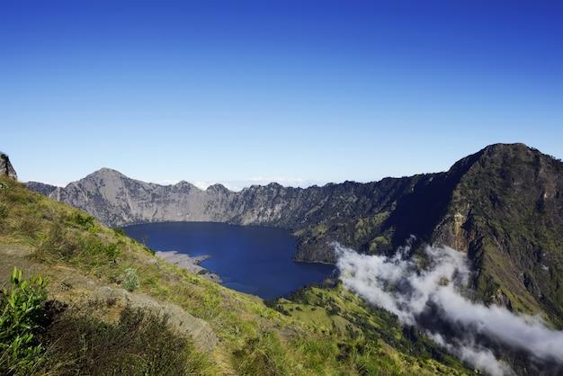 Segara anak lake view at mount rinjani