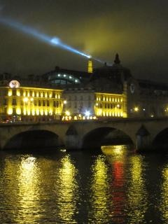 Seine at night  tower