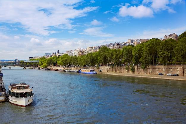 Seine river in paris france