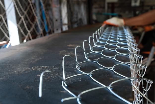 초점 철망사, 철망사를 생산하는 노동자를 선택하십시오.