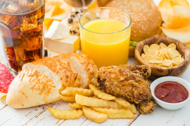 Selection of food that is bad for your health
