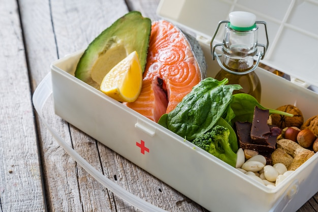 Selection of food that is best for your health