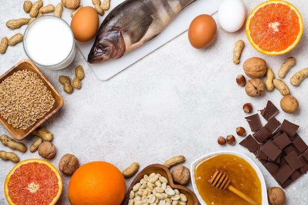 Подбор аллергической пищи. концепция питания аллергии.