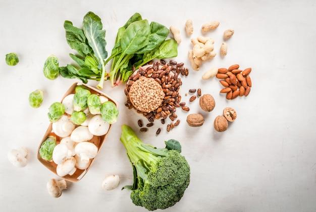 植物性タンパク質を多く含む製品の選択