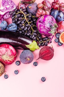 Selection of purple foods