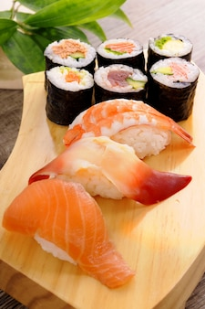Selection of sushi plate
