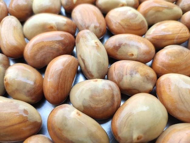 Messa a fuoco selettiva calda di semi di jackfruit