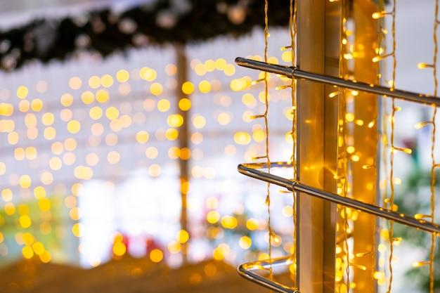 Led 크리스마스 조명에 선택적 초점 마법의 새해 조명