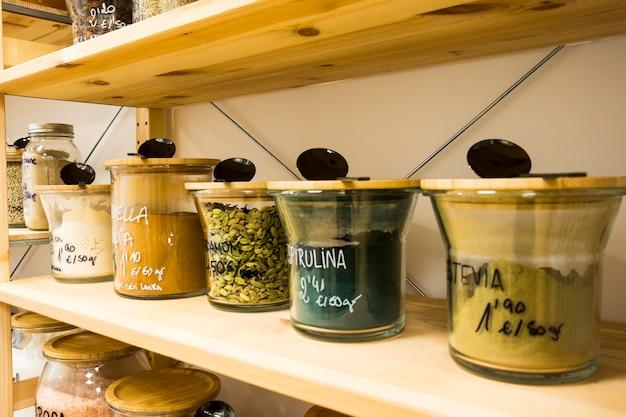 Self service bulk organic food. eco-friendly zero waste shop. small local business.