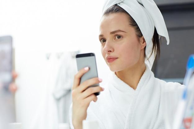 Selfie in bathroom