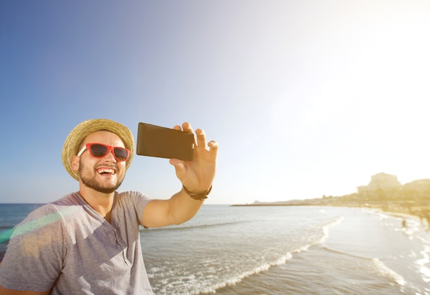 Selfie at the beach
