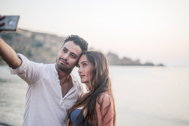 Selfie of a young couple