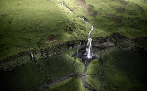 Seljalandsfoss waterfall in iceland in summer