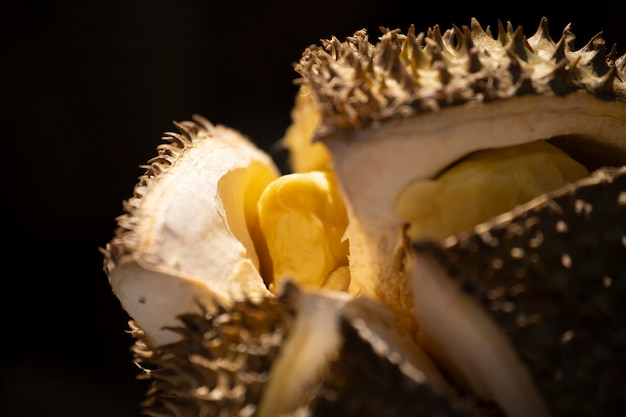 Selling durian in street food.